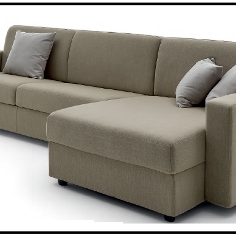 Divani letto con chaise longue in promozione divani a - Divani letto economici prezzi ...