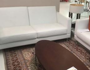 divano Poltrona Xaria scontato del 50% in pelle bianca BOLOGNA