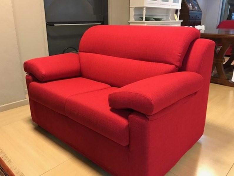 Divano 2 posti rosso a prezzo outlet - Outlet del divano assago ...