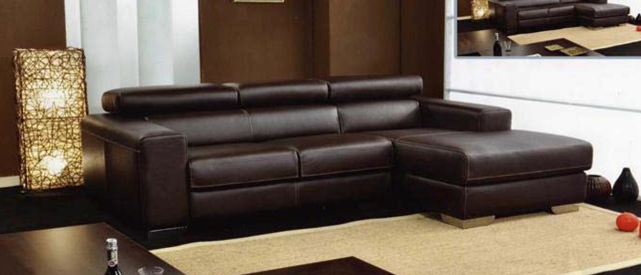 Divano divano box in pelle divani con chaise longue pelle - Divano 4 posti con chaise longue ...