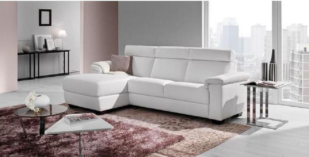 Divano 3 posti con penisola in pelle divani a prezzi for Divani piccoli con penisola