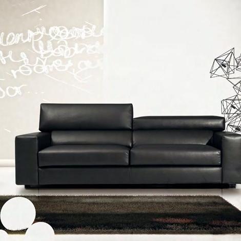 Divano a 3 posti lineare modello star errebi salotti for Lunghezza divano tre posti