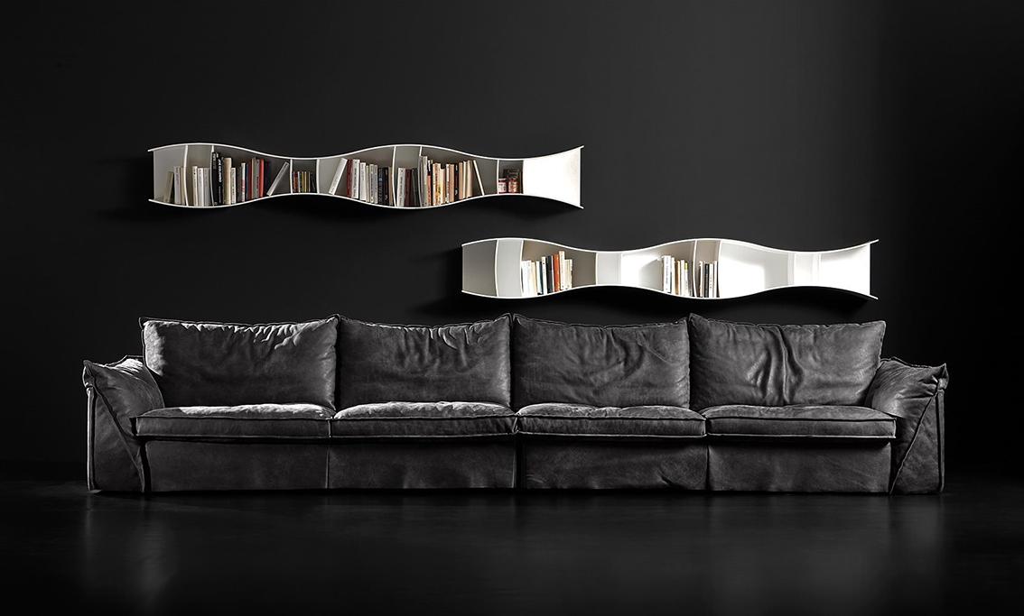 outlet divani: offerte divani online a prezzi scontati - Moderno Ampio Angolo Divano In Pelle A 5 Posti