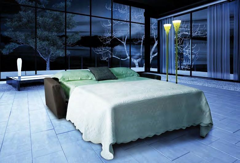 Divano a letto di altissima qualit modello vogue con le - Divano letto con doghe ...