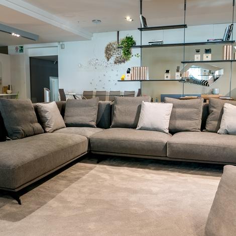 Divano ad angolo ditr italia modello dalton soft scontato for Comprare divano