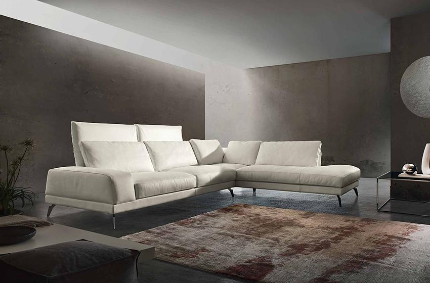 divano angolare 4 posti di design by gurian modello in