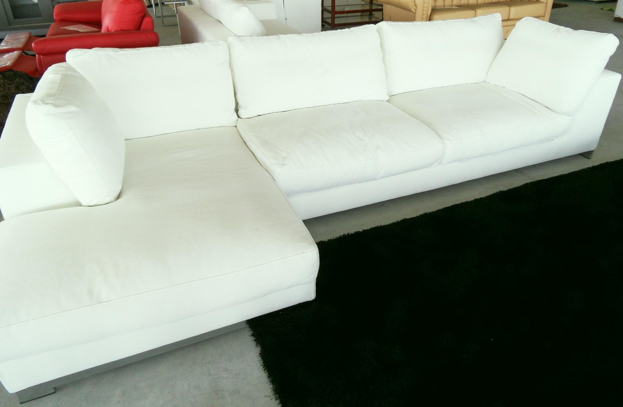 divano angolare scontato del 40% - divani a prezzi scontati - Bianco Dangolo Divano