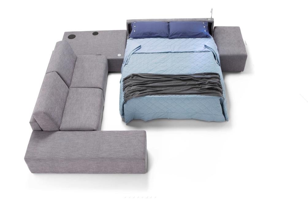Divano angolare con letto divani a prezzi scontati for Letto angolare