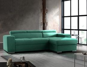 Divano angolare Divano moderno trasformabile pilatus, divano letto verde smeraldo, made in italy do Collezione esclusiva ad un prezzo imperdibile
