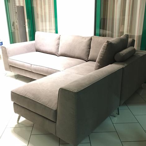Divano angolare doppia versione sia dx che sx sconto 50 divani a prezzi scontati - Divano doppia seduta ...