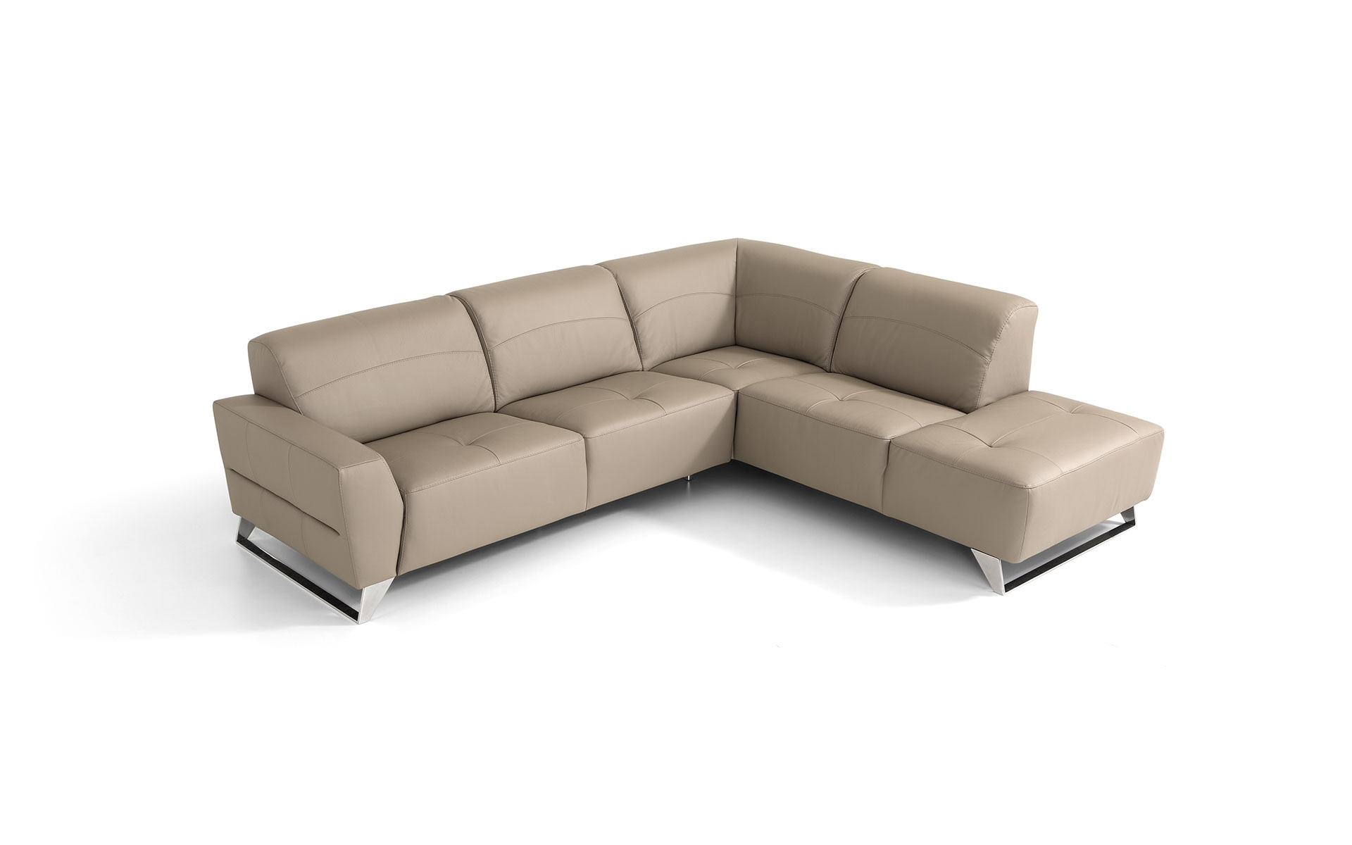 Divano angolare in pelle moderno prezzo outlet divani a for Divano letto in pelle prezzi