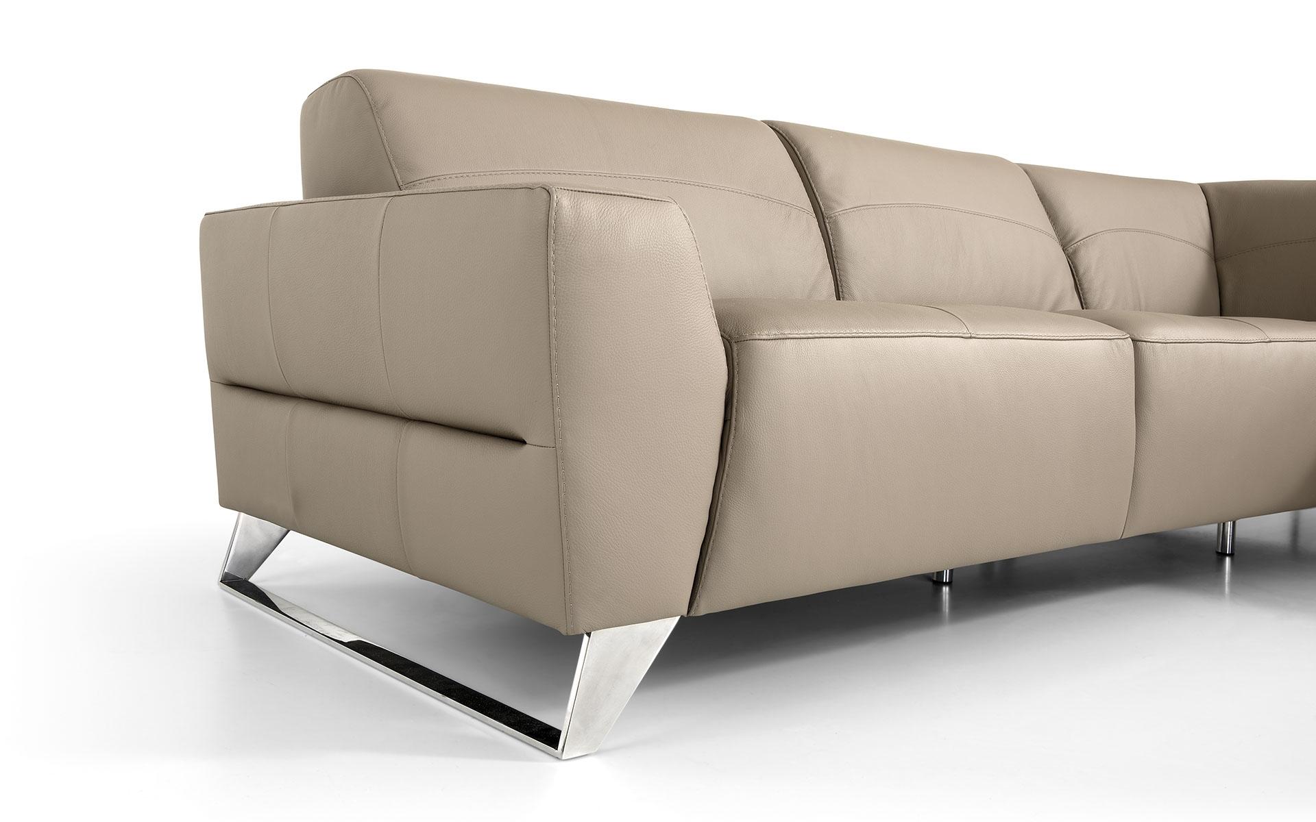 Divano angolare in pelle moderno prezzo outlet divani a for Divano angolare prezzi