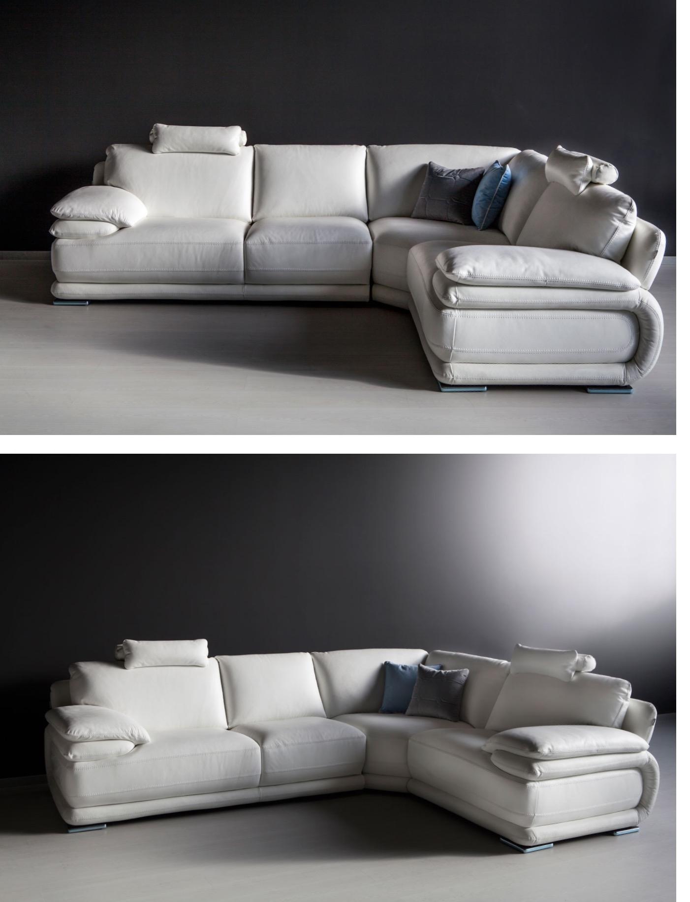 Divano angolare in pelle pieno fiore alta qualita divani for Divano angolare prezzi