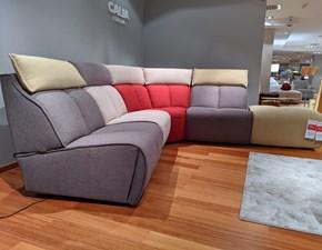 Divano angolare in stile Design Con movimento relax a prezzi outlet