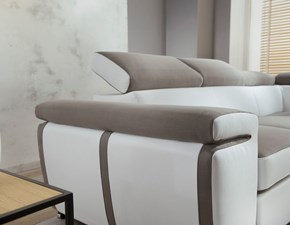 Divano angolare in stile Design Con seduta estraibile a prezzi outlet