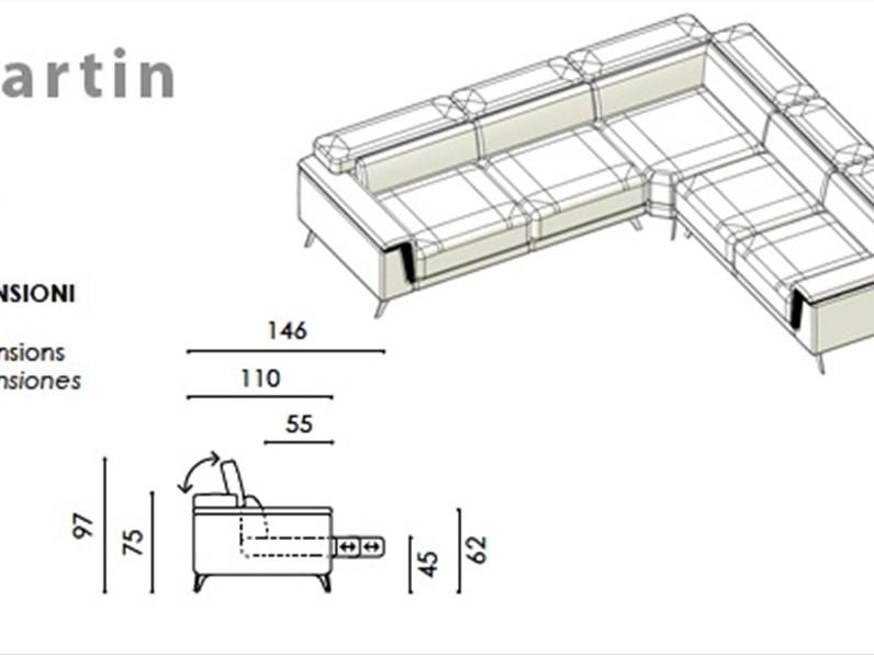 Divano angolare in tessuto componibile colombini for Aziende produttrici di mobili