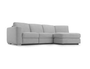 Divano angolare in tessuto Easy Sofas colore grigio - sfoderabile