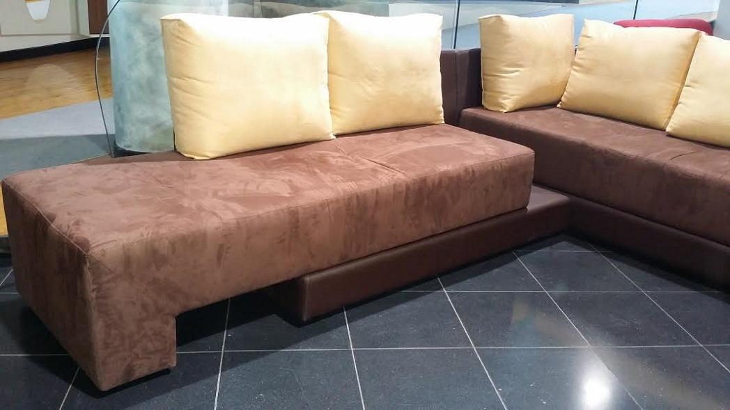 Divano angolare moderno microfibra letto singolo e doppio - Microfibra divano ...