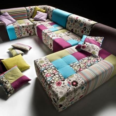Divano angolare patchork scontato tessuti a scelta - Dimensioni divano angolare ...