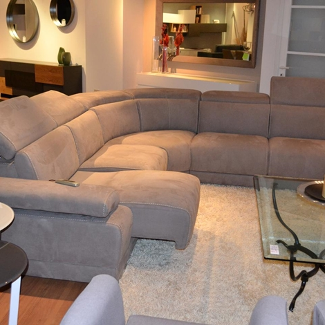 Divano angolo con relax elettrico divani a prezzi scontati - Divano letto elettrico ...