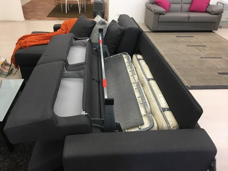 Divano bodema modello joao con chaise longue e letto interno - Divano 4 posti con chaise longue ...