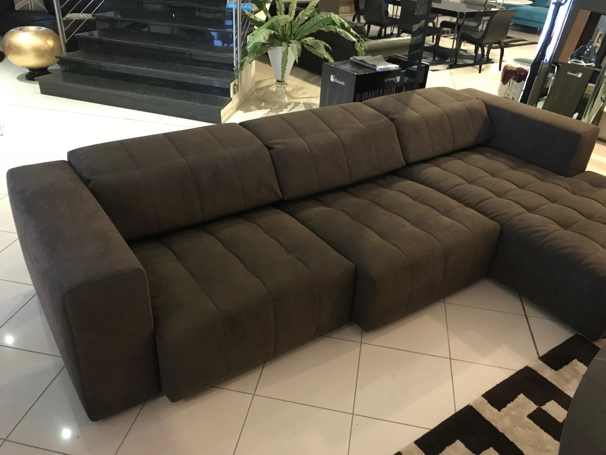 Divano busnelli modello harvest in alcantara divani a prezzi scontati - Altezza schienale divano ...