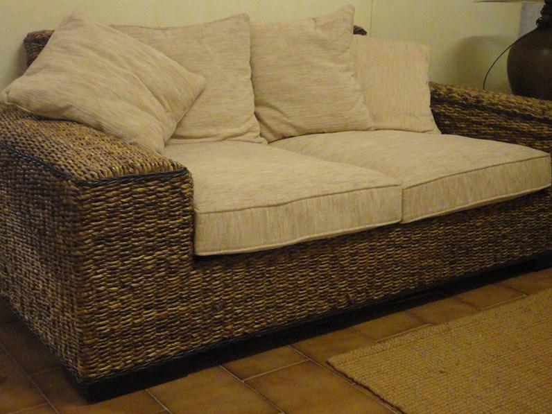 Divano castagnetti divano in rattan scontato del 60 - Divano in rattan ...