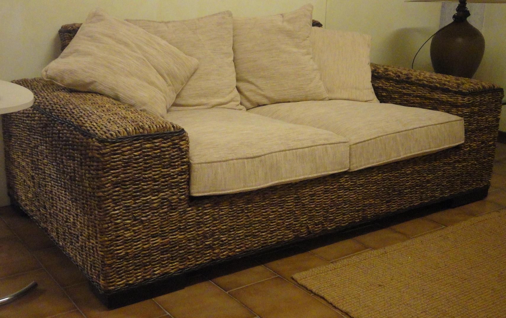 Divano castagnetti divano in rattan scontato del 60 for Divano rattan