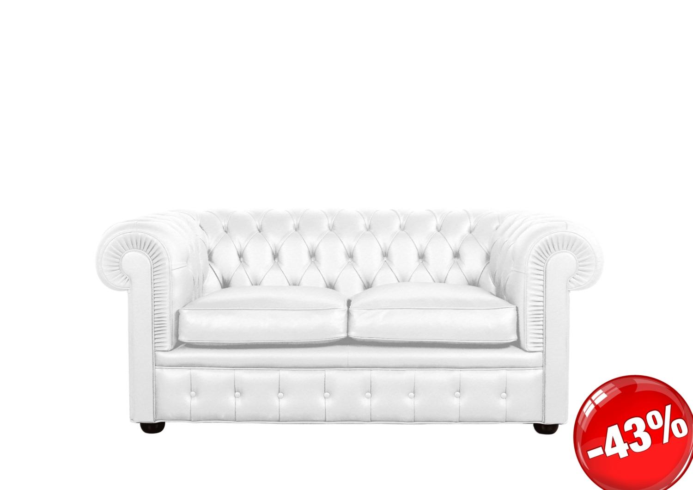 Divano chester bianco 2p maxi divani a prezzi scontati - Divano letto chester ...