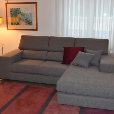 Divano componibile sfoderabile con chaise longue divani - Divano profondita 70 ...