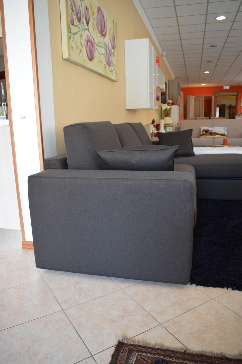 Divano con chaise longue in tessuto cotone divani a - Divano 250 cm ...