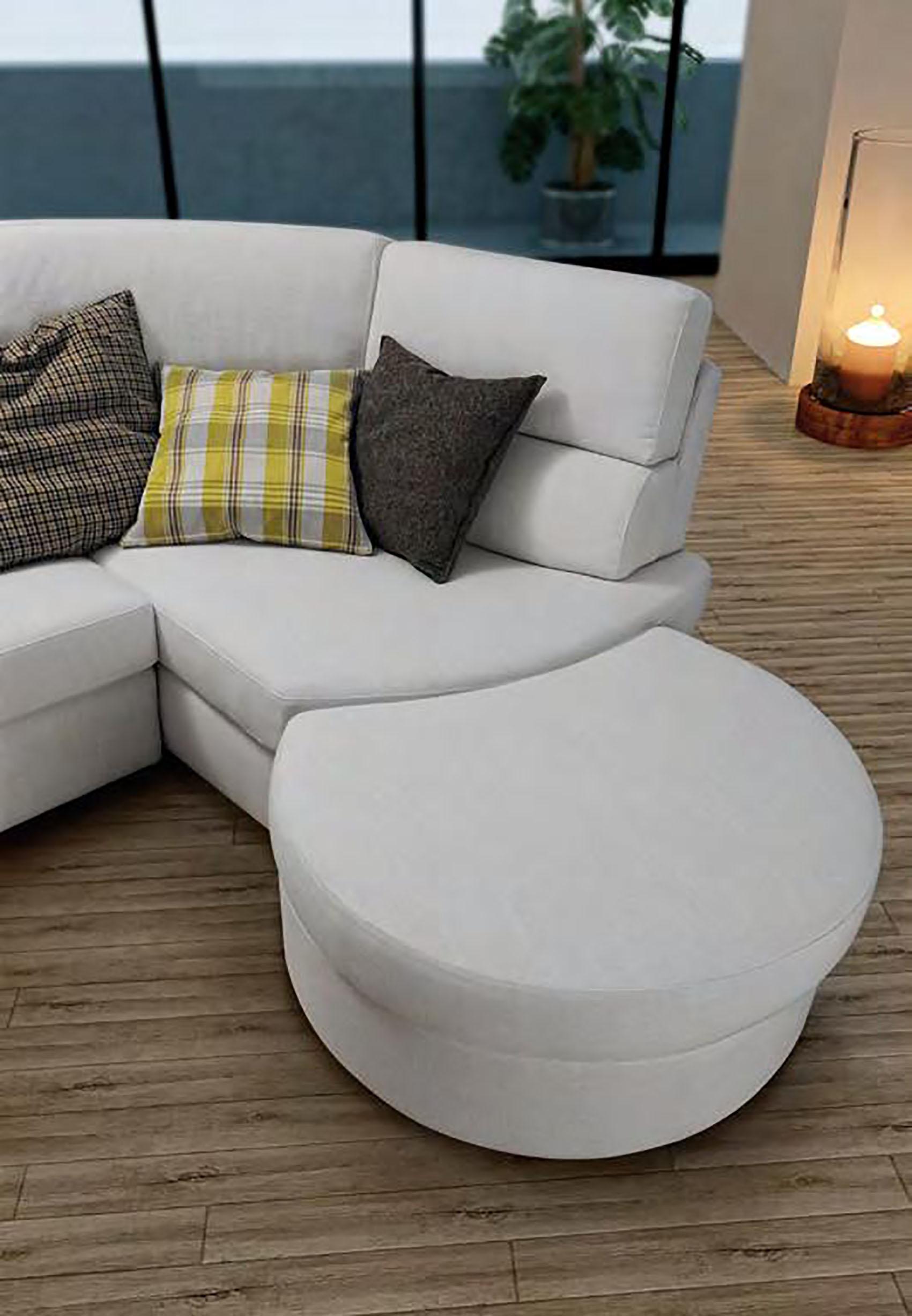 Divano con chaise longue in tessuto modello rubino errebi - Divano con chaise longue ...