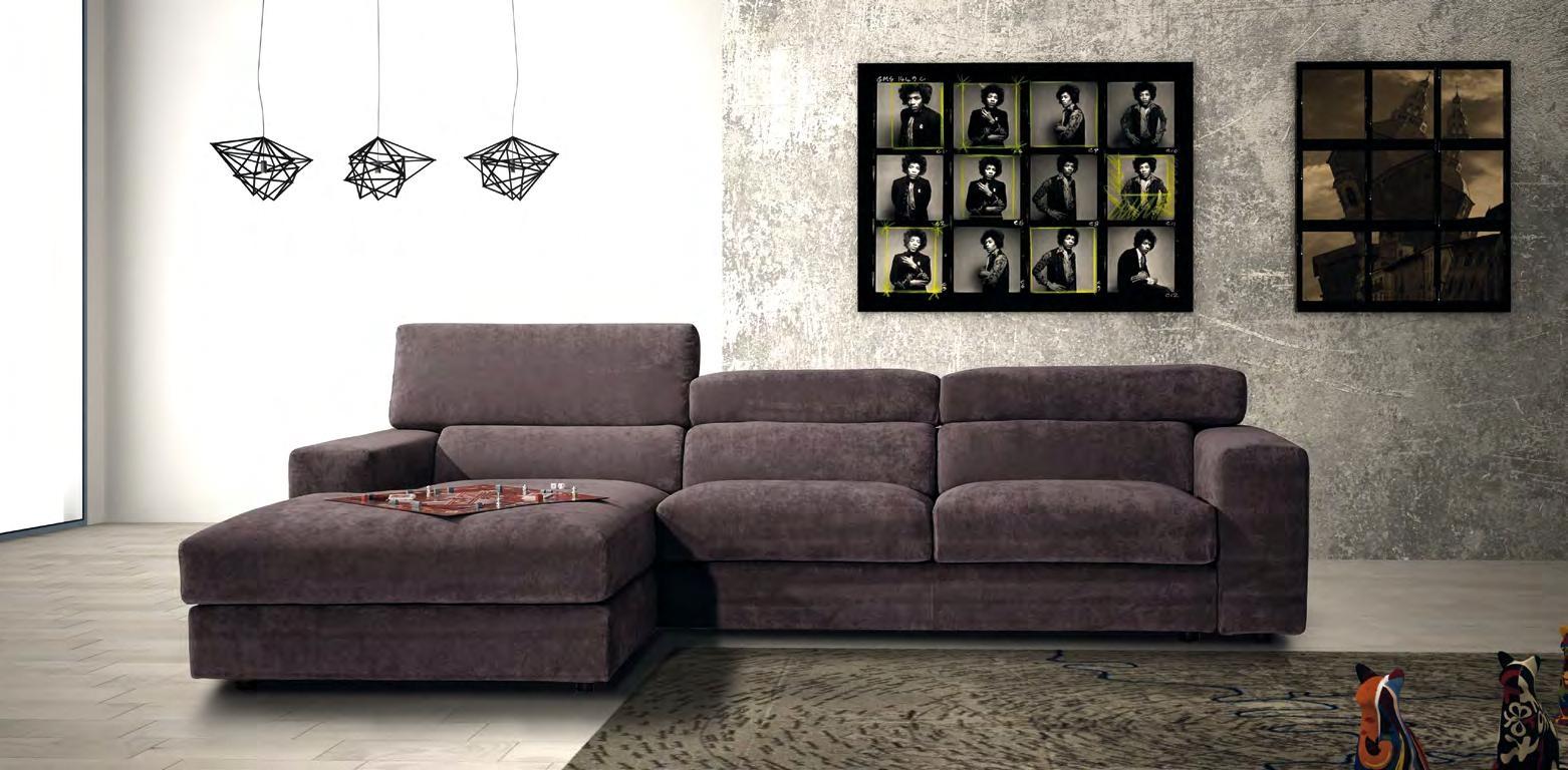 Divano con chaise longue in tessuto modello star errebi salotti divani a prezzi scontati - Divano con chaise longue ...