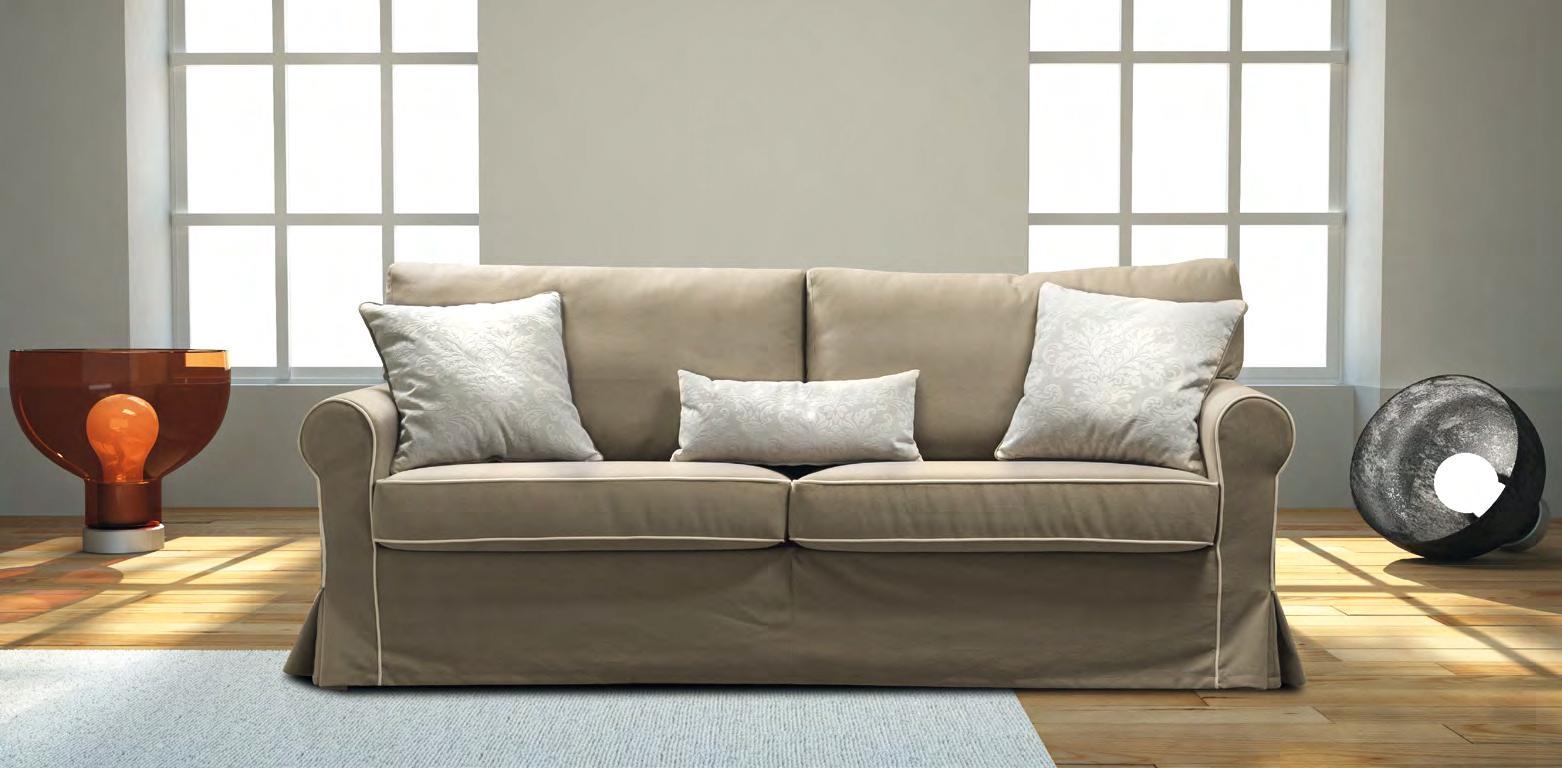 Divano con chaise longue in tessuto modello vintage errebi for Prezzi divani classici in tessuto