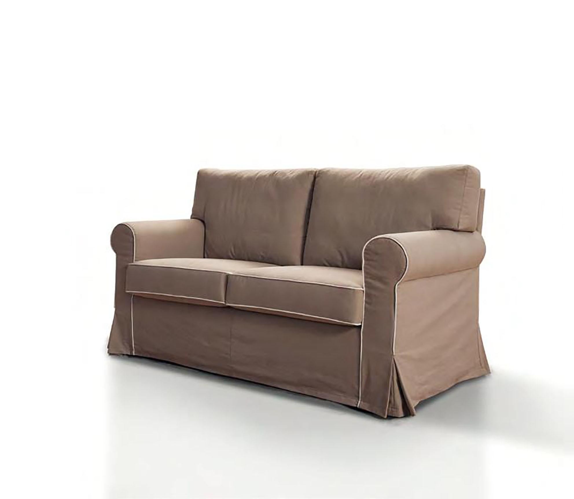 Divano con chaise longue in tessuto modello vintage errebi - Divano due posti con chaise longue ...
