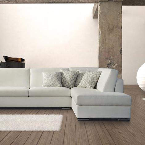 Divano con chaise longue in tessuto scontato divani a for Divani moderni con chaise longue