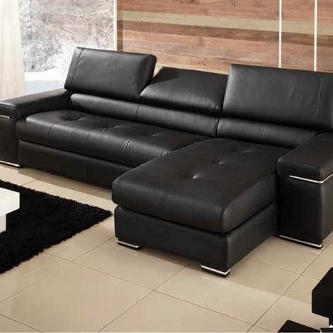 Divano divano valle divani con chaise longue pelle - Divano profondita 75 ...