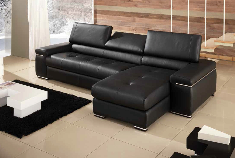 Divano divano valle divani con chaise longue pelle - Chaise longue divano ...