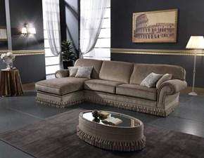 Divano con penisola Classico italiano alta qualita luxury Md work PREZZI OUTLET