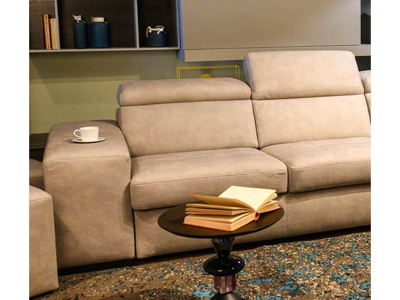 Divano con penisola contenitore e letto estraibile fine serei - Imbottitura divani poliuretano ...