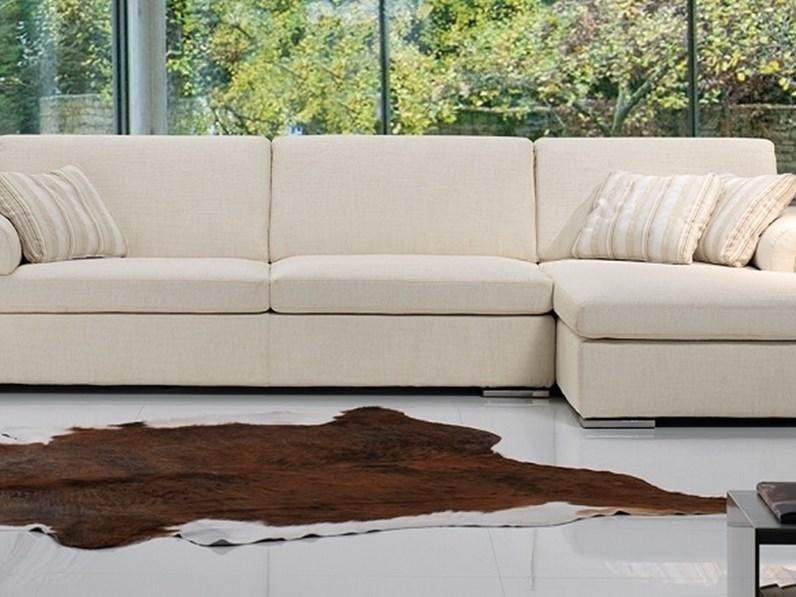 Divano con penisola divano con chaise longue scontato del 30 pandolfi offerta outlet - Misure divano con chaise longue ...