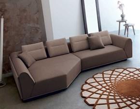 Divano con penisola Divano in pelle alta qualita luxury varie colorazioni  Md work PREZZI OUTLET