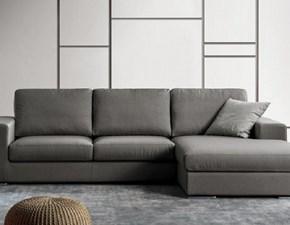 Divano con penisola Divano mod.albert rivestito in tessuto con chaise-longue scontato del 50% Excò in Offerta Outlet