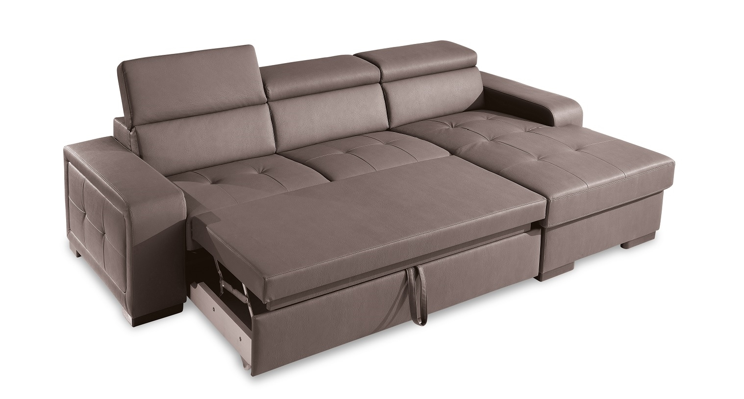 Divano con penisola e letto fine produzione divani a - Divano letto con penisola prezzi ...