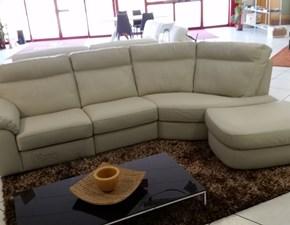 Divano con penisola in Pelle Charles Doimo sofas offerta