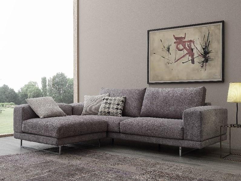 Divano con penisola in tessuto crippa divani letti a prezzo scontato