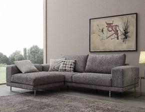 Divano con penisola in Tessuto Crippa divani&letti a prezzo scontato