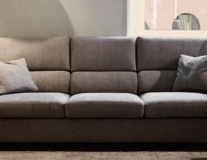 Divano con penisola in Tessuto Ventura divani a prezzo ribassato