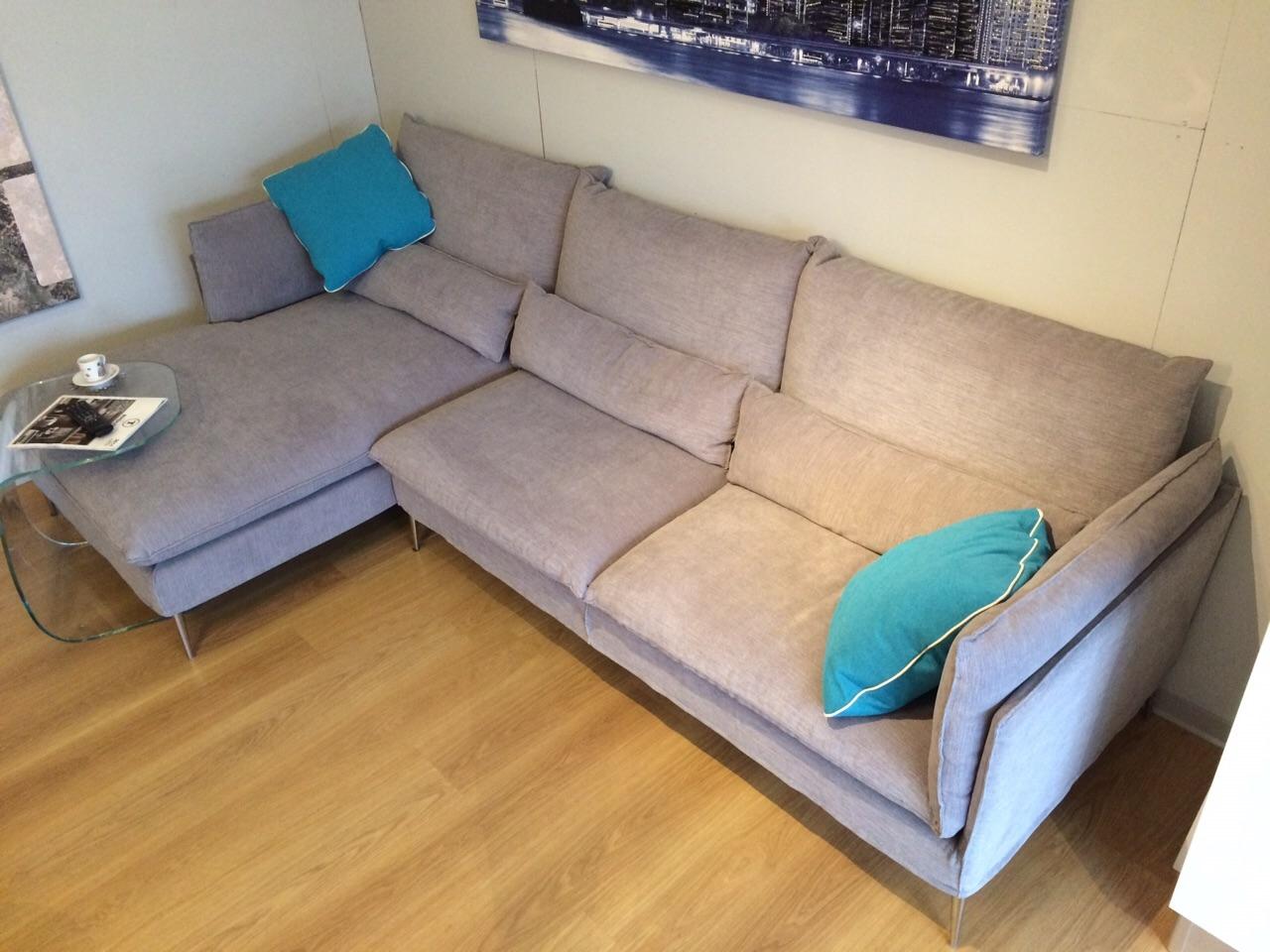 divano con penisola sfoderabile modello natalie exc sof divani a prezzi scontati. Black Bedroom Furniture Sets. Home Design Ideas