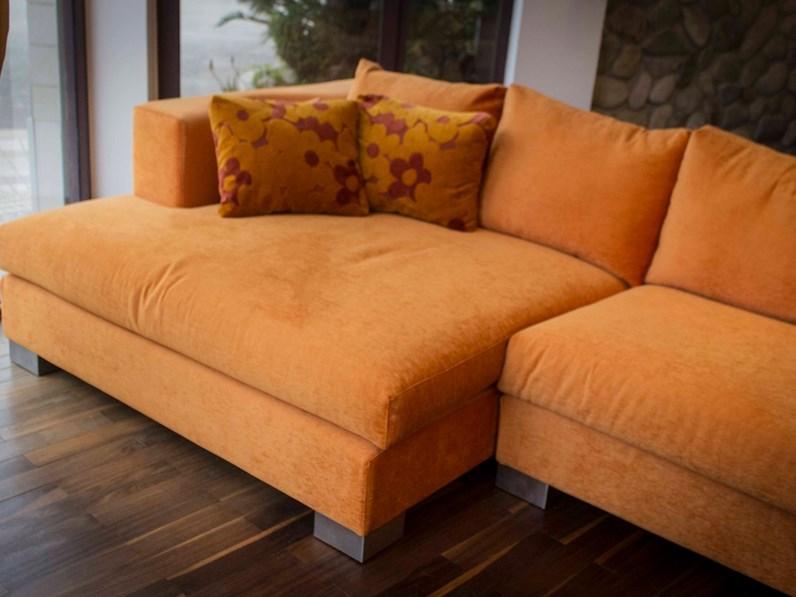 Divano con penisola rest big 608 di cts salotti a prezzo for Misure divani con penisola